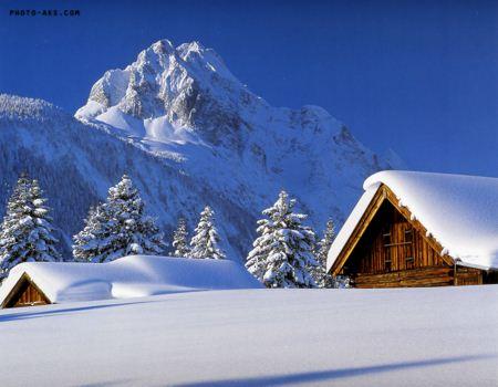تصویر رویایی زمستان و برف dream in winter