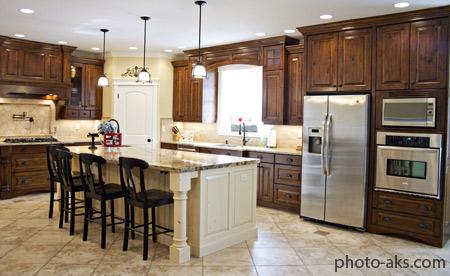 شیک ترین دکوراسیون های آشپزخانه wooden kitchen design