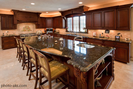 دکوراسیون آشپزخانه شیک چوبی wooden kitchen design