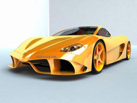 ماشین زرد خفن yellow modern car