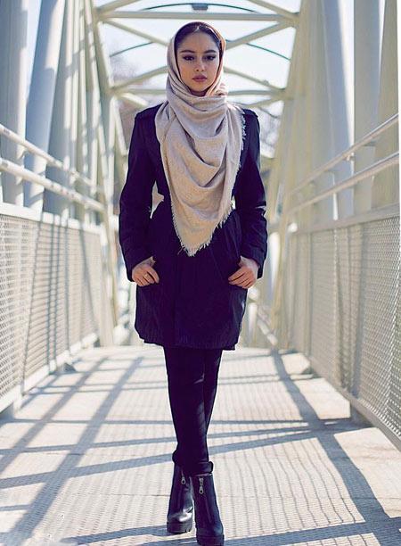 مدل لباس زمستانی ترلان پروانه winter dress iranian actress