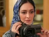 الهام حمیدی در حال فیلمبرداری