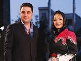 ضیغمی و همسرش در جشن حافظ