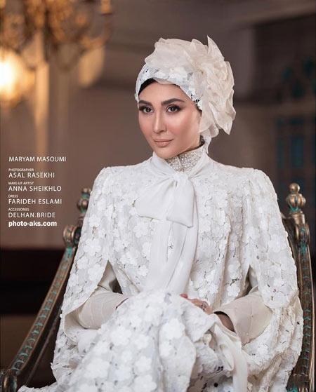 مریم معصومی با لباس عروس maryam masoumi