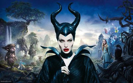 پوستر آنجلینا جولی فیلم مالیفیسنت angelina jolie maleficent