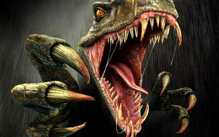 عکس ترسناک دایناسور خشمگین dangerous animals