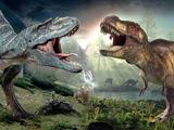 عکس جنگ میان دایناسورها