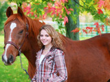 عکس اسب و دختر