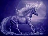 تصویر فانتزی اسب تک شاخ