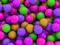 آبنبات های رنگی دایره ای