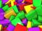 والپیپر مکعب های سه بعدی رنگی
