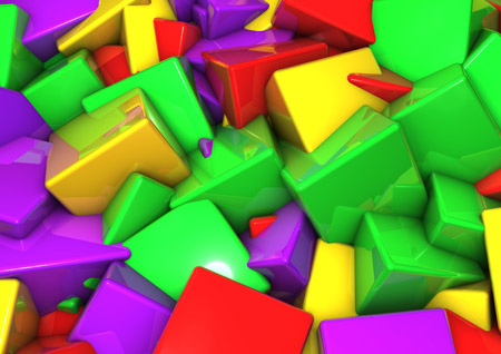 والپیپر مکعب های سه بعدی رنگی colorful 3d cube wallpaper