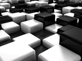 مکعب های سیاه و سفید