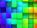 مکعب های رنگی سه بعدی زیبا