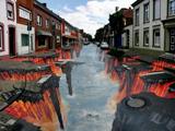 هنر نقاشی خیابانی جالب