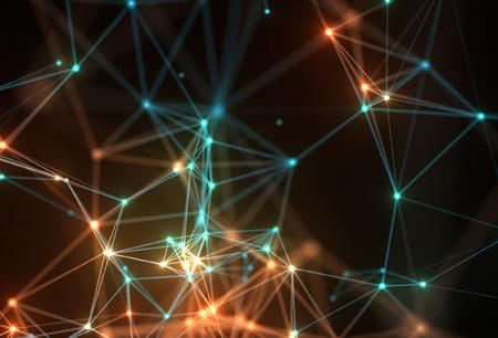 پس زمینه آبستره نودهای شبکه light network abstract