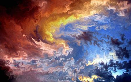 عکس انتزاعی هنری ترکیب رنگها multicolor abstract art