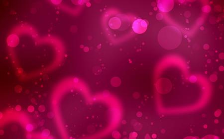 پس زمینه قلب های صورتی pink love shine