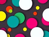 عکس انتزاعی دایره های رنگارنگ