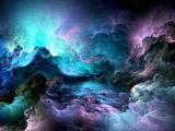 والپیپر انتزاعی ابرهای رنگارنگ