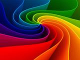 عکس رنگین کمان مارپیچی