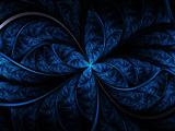 عکس هنری انتزاعی آبی و سیاه