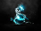 عکس انتزاعی اژدهای آبی