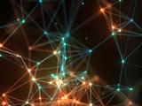 پس زمینه آبستره نودهای شبکه