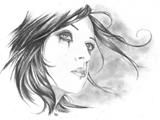 عکس غم انگیز نقاشی دختر