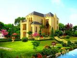 معماری خانه ویلایی در باغ