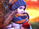 عکس دختر بچه ناز مو بلند
