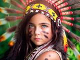 عکس دختربچه هندی چشم سبز