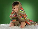 عکس بچه با پتو