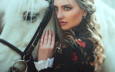 عکس دختر زیبا و اسب beauty horse girl pretty
