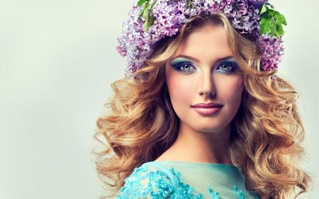 والپیپر دختر زیبا و خوشگل با تاج گل hair flowers beautiful girl