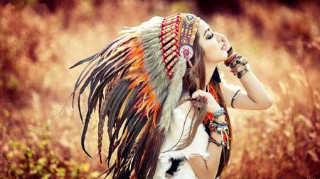 دختر زیبا با کلاه سرخپوستی dokhtar ziba ba kolah sorkhposti