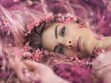 عکس زیبای دختر میان گلها