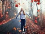 عکس رمانتیک دختر فصل پاییز