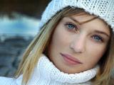 والپیپر زن زیبا چشم آبی