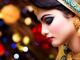 عکس دختر هندی با آرایش زیبا