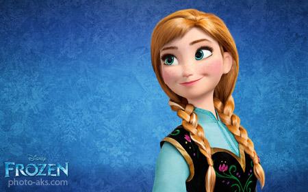 پوستر آنا در کارتون یخ زده frozen anna hd wallpaper