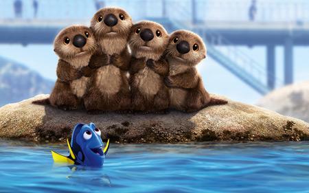 شیرهای دریایی در جستجوی دوری sea lions finding dory