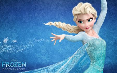 پوسترهای کارتون فروزن snow gueen elsa in frozen