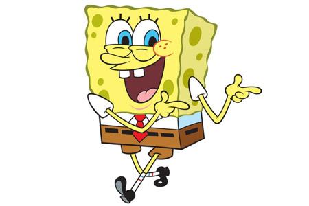 عکس شاد کارتونی باب اسفنجی spongebob happy