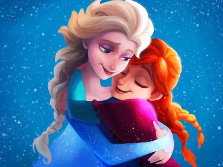 السا و آنا در کارتون فروزن frozen sisters elsa anna