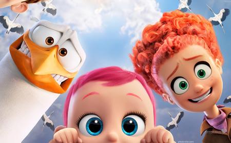 پوستر کارتون لک لک ها storks animation movies 2016