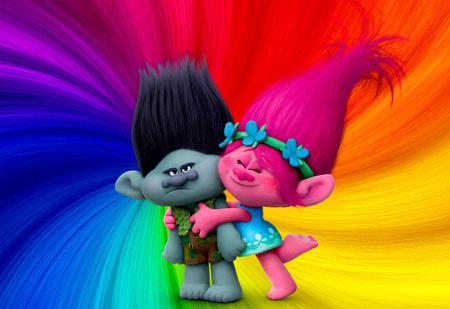 عکس پس زمینه شاد کارتونی trolls wallpaper colorfull