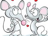 عکس دو موش کارتونی شاد