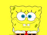پوستر زرد کارتون باب اسفنجی