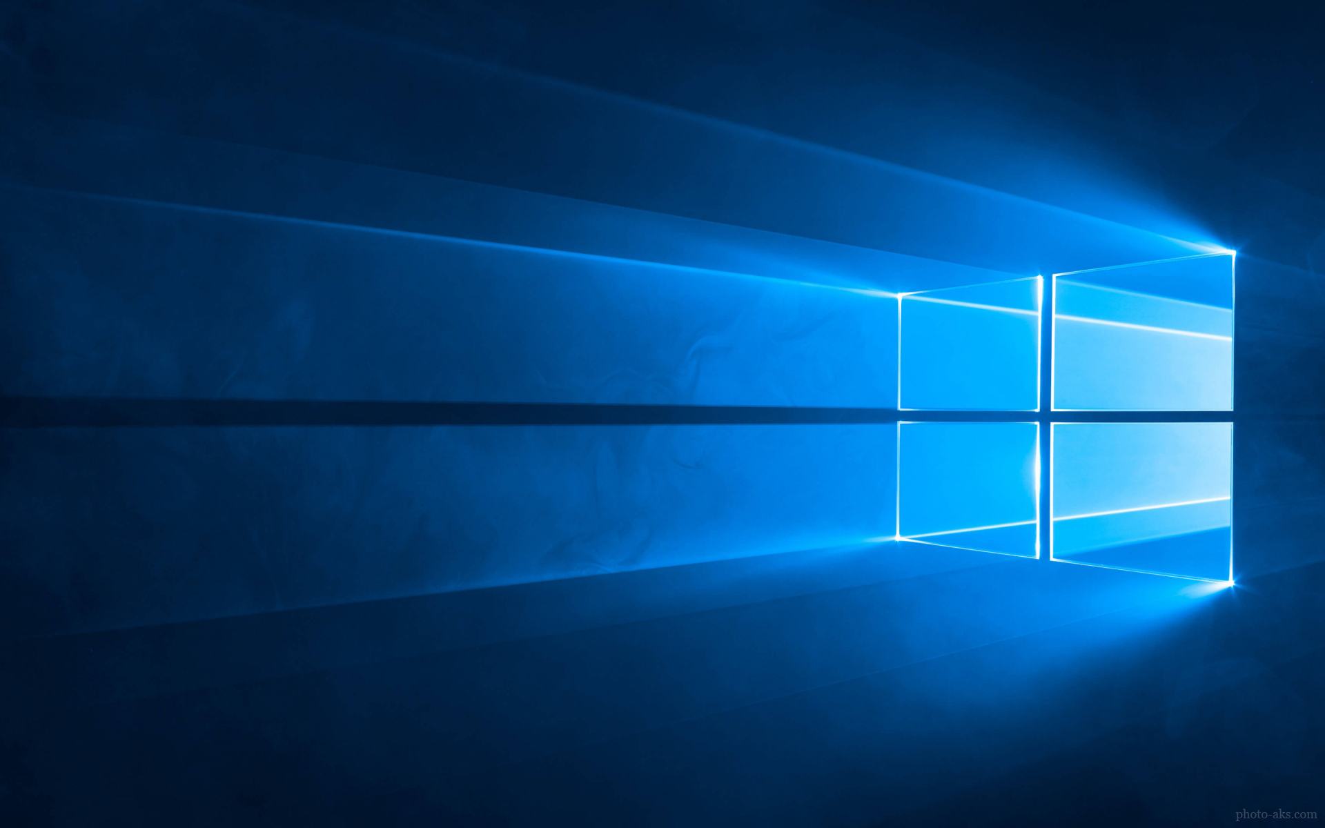 Windows 10 blue wallpaper for Windows official